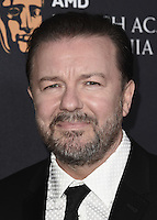 BEVERLY HILLS, CA - OCTOBER 28:  Ricky Gervais at the 2016 BAFTA Los Angeles Britannia Awards at the Beverly Hilton Hotel on October 28, 2016 in Beverly Hills, California. Credit: MediaPunch