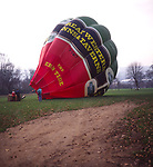 A294G4 Red hot air balloon trying to take off