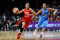 Washington, DC - September 8, 2019: Washington Mystics guard Natasha Cloud (9) gets a step on Chicago Sky forward Gabby Williams (15) on her way to the basket during game between the Chicago Sky and Washington Mystics at the Entertainment and Sports Arena in Washington, DC. The Mystics locked up the #1 seed in the Playoffs by defeating the Sky 100-86. (Photo by Phil Peters/Media Images International)