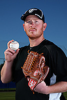 March 1, 2010:  Pitcher Jesse Litsch (51) of the Toronto Blue Jays poses for a photo during media day at Englebert Complex in Dunedin, FL.  Photo By Mike Janes/Four Seam Images