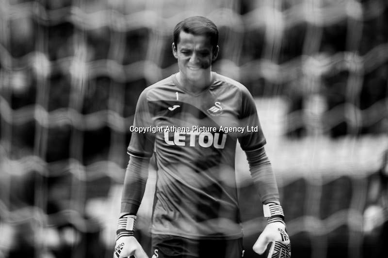 Lukasz Fabianski of Swansea City warms up during the Pre-season friendly match between Birmingham City and Swansea City at St Andrew's Stadium, Birmingham, England, UK. 29 July 2017