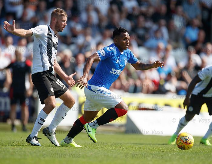 25.08.2019 St Mirren v Rangers: Sam Foley and Alfredo Morelos