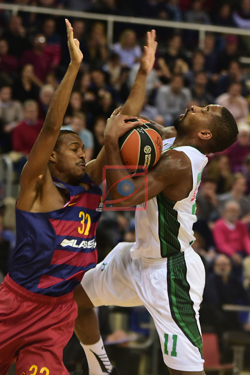 Turkish Airlines Euroleague 2016/2017.<br /> Regular Season - Round 15.<br /> FC Barcelona Lassa vs Darussafaka Dogus Istanbul: 81-77.<br /> Alex Renfroe vs Brad Wanamaker.
