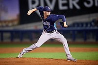 Corpus Christi Hooks relief pitcher Jacob Dorris (7) delivers a pitch during a game against the Tulsa Drillers on June 3, 2017 at ONEOK Field in Tulsa, Oklahoma.  Corpus Christi defeated Tulsa 5-3.  (Mike Janes/Four Seam Images)