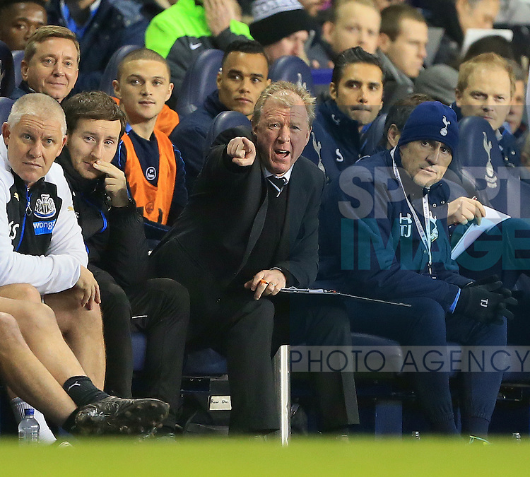 Newcastle's Steve McClaren looks on dejected<br /> <br /> Barclays Premier League- Tottenham Hotspur vs Newcastle United - White Hart Lane - England - 13th December 2015 - Picture David Klein/Sportimage