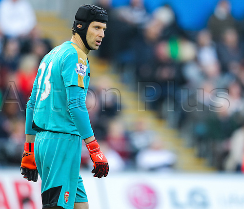 31.10.2015. Liberty Stadium, Swansea, Wales. Barclays Premier League. Swansea versus Arsenal. Arsenal's Petr Čech during the match