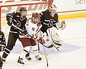 Paige Pyett (Brown - 2), Andrea Green (BC - 21), Katie Jamieson (Brown - 25) - The Boston College Eagles defeated the visiting Brown University Bears 5-2 on Sunday, October 24, 2010, at Conte Forum in Chestnut Hill, Massachusetts.