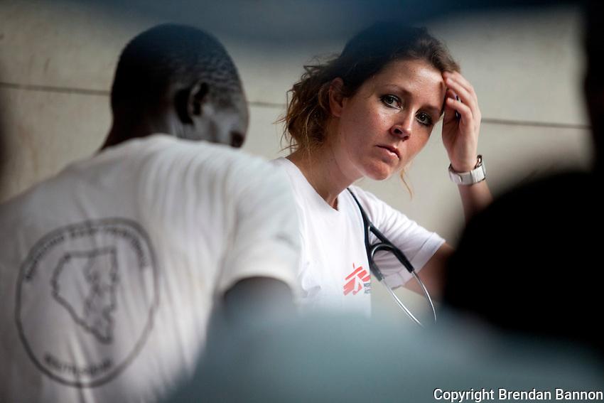 Dr Renske Dikkers  in MSF's PHCC in Nassir, South Sudan.