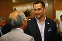 Koji Murofushi,<br /> AUGUST 8, 2014 : <br /> 25th Anniversary gathering of JOC establishment<br /> at Kishi Memorial Gymnasium, Tokyo, Japan. <br /> (Photo by Shingo Ito/AFLO SPORT)