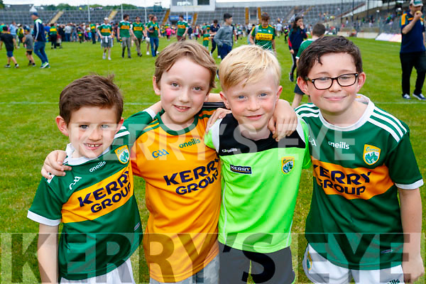 Kevin Breen, Nicolas Fitzsimons Luke Gannon and Cathal Breen, Tralee, pictured at the Kerry v Clare Munster semi-final at Fitzgerald Stadium, Killarney on Sunday last.