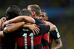 Miroslav Klose (GER),<br /> JULY 8, 2014 - Football / Soccer : Miroslav Klose (11) of Germany celebrates with his teammates after Klose scoring his team's second goal during the FIFA World Cup 2014 semi-finals match between Brazil 1-7 Germany at Mineirao stadium in Belo Horizonte, Brazil.<br /> (Photo by FAR EAST PRESS/AFLO)