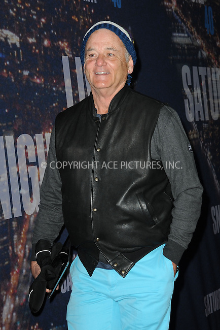 WWW.ACEPIXS.COM<br /> February 15, 2015 New York City<br /> <br /> Bill Murray walking the red carpet at the SNL 40th Anniversary Special at 30 Rockefeller Plaza on February 15, 2015 in New York City.<br /> <br /> Please byline: Kristin Callahan/AcePictures<br /> <br /> ACEPIXS.COM<br /> <br /> Tel: (646) 769 0430<br /> e-mail: info@acepixs.com<br /> web: http://www.acepixs.com