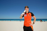 "Perth Scorchers captain Meg Lanning has missed games due to a back injury but is expected to return.against the Melbourne Renegades at the WACA Ground. Saturday's theme is ""Bring the Beach to the WACA"" and to help promote this Meg played beach cricket with young Scorchers fans. photo by Trevor Collens"
