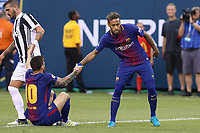 EAST RUTHERFORD, USA, 22.07.2017 - JUVENTUS-BARCELONA - Messi e Neymar do Barcelona durante partida contra Juventus valido pela  International Champions Cup 2017 no MetLife Stadium na cidade de East Rutherford, New Jersey. (Foto: Vanessa Carvalho/Brazil Photo Press)
