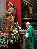 Pope Francis during  the mass New Cardinals in St.Peter's Basilica at the Vatican February 23, 2014
