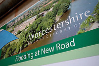 Flooding At New Road signage during Worcestershire CCC vs Essex CCC, Specsavers County Championship Division 1 Cricket at Blackfinch New Road on 12th May 2018