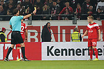 30.11.2018, Merkur Spielarena, Duesseldorf , GER, 1. FBL,  Fortuna Duesseldorf vs. 1.FSV Mainz 05,<br />  <br /> DFL regulations prohibit any use of photographs as image sequences and/or quasi-video<br /> <br /> im Bild / picture shows: <br /> gelbe Karte für Jean Zimmer (Fortuna Duesseldorf #39),  <br /> Foto © nordphoto / Meuter