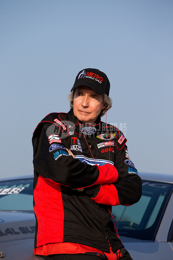 Aug. 30, 2013; Clermont, IN, USA: NHRA super stock driver Billy Wilson during qualifying for the US Nationals at Lucas Oil Raceway. Mandatory Credit: Mark J. Rebilas-