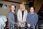 Kate Brosnan (Banna), Angelina Lucid (Ardfert) and Anita Bodehanan (Ardfert) at the Abbeydorney Ladies football Awards Ceremony in the Meadowlands Hotel on Sunday evening.