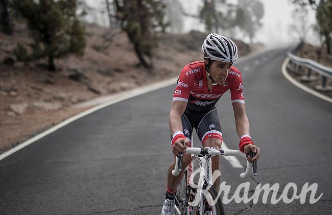 Team Trek-Segafredo winter training camp with Alberto Contador up the Tiede Volcano in Tenerife on his customised Trek Emonda<br /> <br /> january 2017, Tenerife/Spain