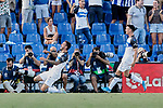 Jose Luis Mato 'Joselu' of Deportivo Alaves celebrates goal during La Liga match between Getafe CF and Deportivo Alaves at Colisseum Alfonso Perez in Getafe, Spain. August 31, 2019. (ALTERPHOTOS/A. Perez Meca)