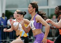 20 MAY 2007 - LOUGHBOROUGH, UK - Natalie Jowett - 100m Invitation B - Loughborough International Athletics. (PHOTO (C) NIGEL FARROW)