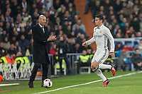 Real Madrid's Colombian midfielder James Rodriguez during the Copa del Rey soccer match between Real Madrid and Sevilla played at the Santiago Bernabéu stadium in Madrid, on January 4th 2017.
