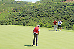Rory McIlroy (N.IRL) sinks his putt on the 15th green during the morning session on Day 3 of the Volvo World Match Play Championship in Finca Cortesin, Casares, Spain, 21st May 2011. (Photo Eoin Clarke/Golffile 2011)