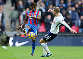 5th November 2017, Wembley Stadium, London England; EPL Premier League football, Tottenham Hotspur versus Crystal Palace; Wilfried Zaha of Crystal Palace and Christian Eriksen of Tottenham Hotspur compete for the ball