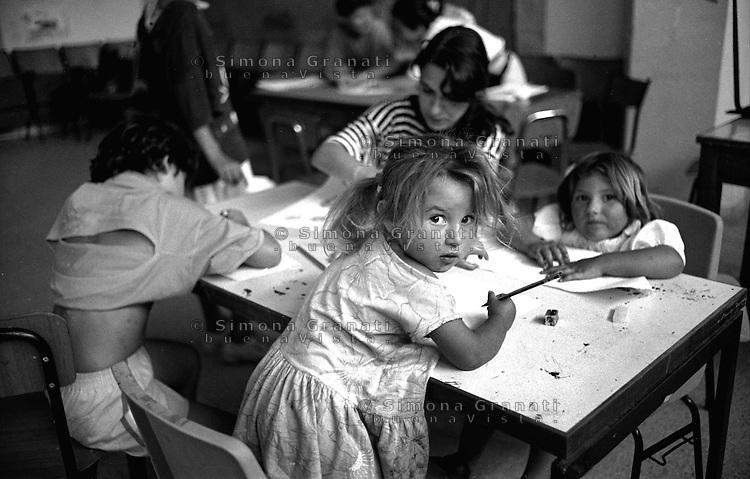 Roma,.Centro estivo per bambini Rom.Rome.Summer camp for Roma children