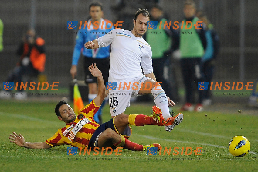 """David DI MICHELE Lecce, Stefan RADU Lazio.Lecce 10/12/2011 Stadio """"Via del MAre"""".Football Calcio Serie A 2011/2012.Lecce Vs Lazio.Foto Insidefoto ."""