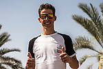 Rui Costa (POR) UAE Team Emirates at sign on before the start of Stage 4 of the 2018 Tour of Oman running 117.5km from Yiti (Al Sifah) to Ministry of Tourism. 16th February 2018.<br /> Picture: ASO/Muscat Municipality/Kare Dehlie Thorstad | Cyclefile<br /> <br /> <br /> All photos usage must carry mandatory copyright credit (&copy; Cyclefile | ASO/Muscat Municipality/Kare Dehlie Thorstad)