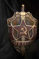 A badge worn by officers of the KGB, the secret service of the former Soviet Union...