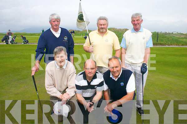 Members from Kenmare Golf Club who took part in the Kerry Shield Final in the Waterville Golf club on saturday last were Front row l-r Dave ODwyer, Sean Sweeney and Steve OSullivan..Back row l-r Tom McDonald, John Sheppard (Capt), Coley Keating..