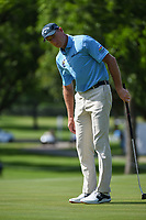 Jim Furyk (USA) watches his putt on 2 during round 2 of the 2019 Charles Schwab Challenge, Colonial Country Club, Ft. Worth, Texas,  USA. 5/24/2019.<br /> Picture: Golffile   Ken Murray<br /> <br /> All photo usage must carry mandatory copyright credit (© Golffile   Ken Murray)