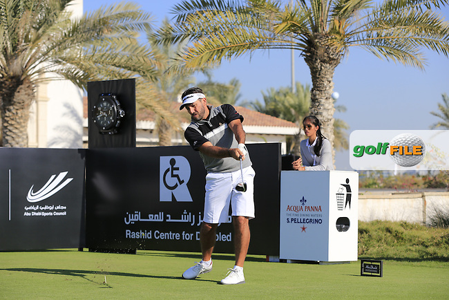 Salem Bin Desmal on the 10th tee to start his match during the 2015 Abu Dhabi Invitational Am-Am event held at Yas Links Golf Course, Abu Dhabi.: Picture Eoin Clarke, www.golffile.ie: 1/26/2015