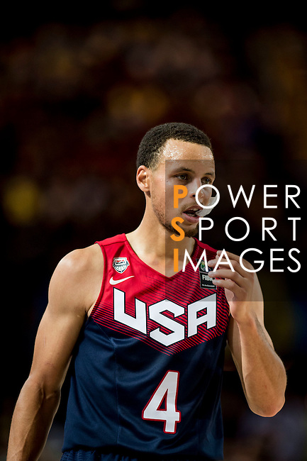Stephen Curry of United States of America during FIBA Basketball World Cup 2014 group C between United States of America vs Turkey  on August 31, 2014 at the Bilbao Arena stadium in Bilbao, Spain. Photo by Nacho Cubero / Power Sport Images