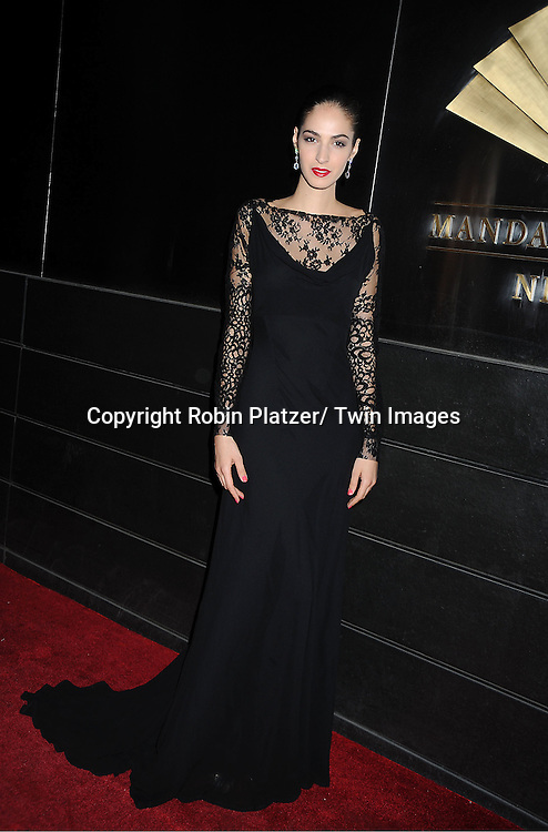 Emina Cunmulaj arrives to The New Yorkers for Children 9th Annual  Spring Dinner Dance at The Mandarin Oriental on April 10, 2012 in New York City. The event was presented by fashion designer CD Greene.