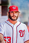 26 September 2018: Washington Nationals pitcher Austen Williams walks the dugout prior to a game against the Miami Marlins at Nationals Park in Washington, DC. The Nationals defeated the visiting Marlins 9-3, closing out Washington's 2018 home season. Mandatory Credit: Ed Wolfstein Photo *** RAW (NEF) Image File Available ***