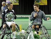 Februari 13, 2015, Netherlands, Rotterdam, Ahoy, ABN AMRO World Tennis Tournament, Stephane Houdet (FRA) / Gordon Reid (GBR)<br /> Photo: Tennisimages/Henk Koster