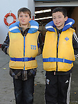 Dean Heritage and Cailum Hodgins pictured at the Boyne Fishermans Rescue and Recovery Service open day. Photo: Colin Bell/pressphotos.ie