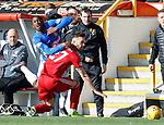 03.03.2019 Aberdeen v Rangers: Glem Kamara chopped