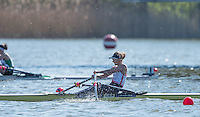 Brandenburg. GERMANY. GBR LW1X, Imogen WALSH.<br /> 2016 European Rowing Championships at the Regattastrecke Beetzsee<br /> <br /> Saturday  07/05/2016<br /> <br /> [Mandatory Credit; Peter SPURRIER/Intersport-images]
