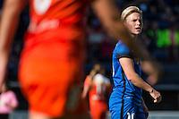 Seattle, Washington - Sunday, June 12, 2016: Seattle Reign FC midfielder Jessica Fishlock (10) during a regular season National Women's Soccer League (NWSL) match at Memorial Stadium. Seattle won 1-0.