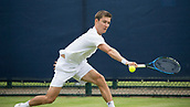 June 11th 2017, Nottingham, England; ATP Aegon Nottingham Open Tennis Tournament day 2;  Backhand from Matthew Ebden of Australia who defeated Barnaby Smith of Great Britain in three sets