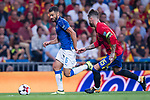Antonio Candreva (L) of Italy fights for the ball with Sergio Ramos (R) of Spain during their 2018 FIFA World Cup Russia Final Qualification Round 1 Group G match between Spain and Italy on 02 September 2017, at Santiago Bernabeu Stadium, in Madrid, Spain. Photo by Diego Gonzalez / Power Sport Images