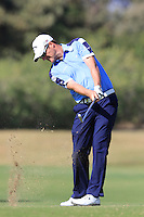Marc Warren (SCO) plays his 2nd shot on the 9th hole during Thursday's Round 1 of the 2016 Portugal Masters held at the Oceanico Victoria Golf Course, Vilamoura, Algarve, Portugal. 19th October 2016.<br /> Picture: Eoin Clarke   Golffile<br /> <br /> <br /> All photos usage must carry mandatory copyright credit (© Golffile   Eoin Clarke)