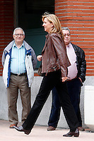 Cristina of Spain visit King Juan Carlos of Spain at La Milagrosa Hospital in Madrid, Spain. March 03, 2013. (ALTERPHOTOS/Caro Marin) /NortePhoto