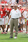 TAMPA, FL - JANUARY 1: Head coach Barry Alvarez of the Wisconsin Badgers during the game against the Georgia Bulldogs at Raymond James Stadium on January 1, 2005 during the Outback Bowl in Tampa, Florida. The Bulldogs beat the Badgers 24-21. (Photo by David Stluka) *** Local Caption *** Barry Alvarez