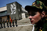 Transnistrian soldiers stage a memorial service for  arecently deceased general in Tiraspol, capital of Transnistria. Also known as Trans-Dniestr or Transdniestria, Transnistria, located mostly on a strip of land between the Dniester River and the eastern Moldovan border with Ukraine, broke away from Moldova in 1990 and although a de facto independent state, governed by the Pridnestrovian Moldavian Republic (PMR), is not recognised internationally.